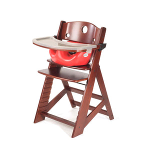 Height Right High Chair with Infant Insert, Tray & Tray Cover Mahogany - Cherry