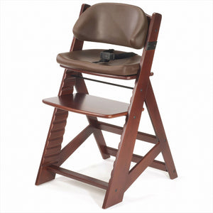 Height Right Kid's Chair with Comfort Cushions - Mahogany/ Chocolate - 768-0055215KR-0001
