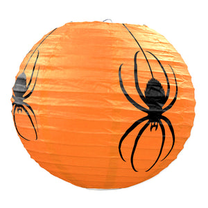 "Spider Paper Lanterns 9 1/2"" - 6 Pack (3/Pkg)"