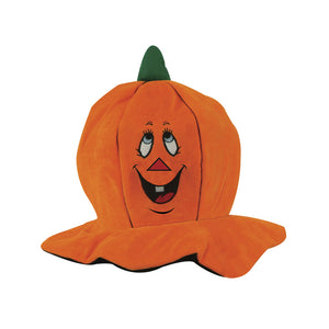 Beistle Party Decoration Plush Jack-O-Lantern Hat - 12 Pack (1/Card)