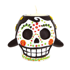 Day Of The Dead Female Tea Light Holder 6 Oz - 6 Pack
