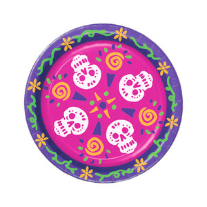 "Beistle Day Of The Dead Plates 9"" - 12 Pack (8/Pkg)"