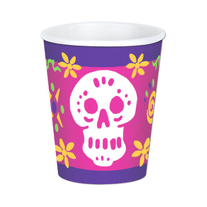 Beistle Party Decoration Day Of The Dead Beverage Cups 9 Oz - 12 Pack (8/Pkg)