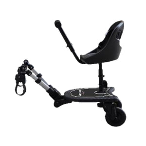 Englacha 2-in-1 Cozy X Rider, Black - Child Rider Stroller Attachment with Saddle Seat and Standing Platform - Universal Fit for Most Prams - Quick and Easy to Use - Designed for Safety