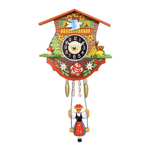 "Alexander Taron 0110SQ Engstler Battery-Operated Clock-Mini Size with Music/Chimes H x 4.5"" W x 2.25"" D, White"