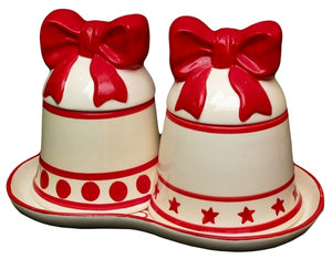 Iwgac Home Decorative Christmas Bell Canister Set