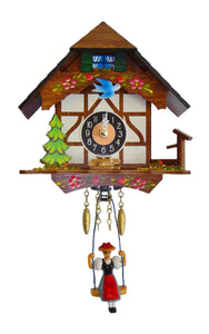 "Alexandor Taron Engstler Mini Size Battery-operated Clock with Music/Chimes - 6""H x 6\""W x 3\""D"