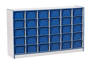 Rainbow Accents 30 Cubbie-Tray Mobile Storage - with Trays