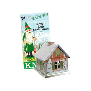 "Knox 078510W Metal Incense House-Winter Motif-5"" H x 2.5"" W x 3.5"" D, White"