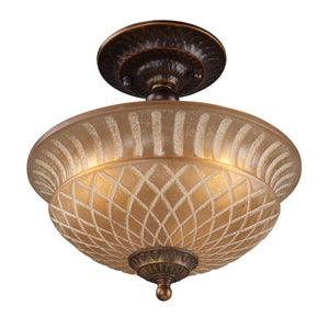 10 in. 3-Light Semi Flush