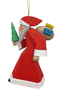 "Alexander Taron 083051-1H Dregeno Ornament - Santa with Gifts - 3.5"" H x 2"" W x 1.5"" D, Brown"