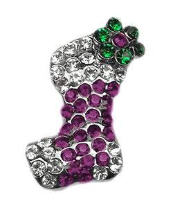 Pet Supplies Pink and Purple Stocking Charms Purple