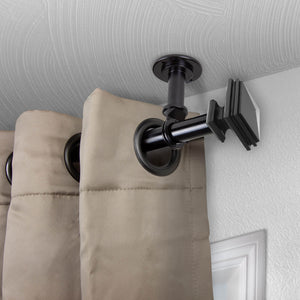 "Bedpost Ceiling Curtain Rod/ Room Divider 1"" OD - Black"