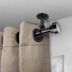 "Bonnet Ceiling Curtain Rod/ Room Divider 1"" OD - Black"