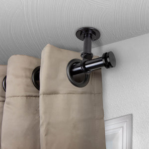 "Bun Ceiling Curtain Rod/ Room Divider 1"" OD - Black"