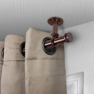 "Bun Ceiling Curtain Rod/ Room Divider 1"" OD - Bronze"