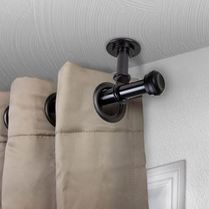 "Rosen Ceiling Curtain Rod/ Room Divider 1"" OD - Black"
