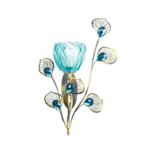 Gallery of Light Peacock Blossom Single Sconce