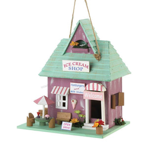 Songbird Valley Patio Decorative Ice Cream Shop Birdhouse - Eucalyptus Wood