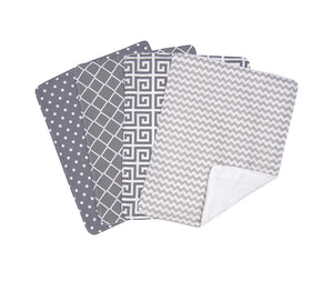 Trend Lab Ombre Gray Burp Cloth Set - 4 Pack