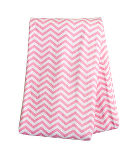 Trend Lab Pink Chevron Print Flannel Swaddle Blanket