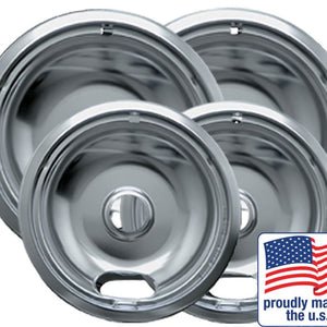 "Drip Bowl Chrome 2 Small / 6"" & 2 Large / 8"", 4 Pk - 10124XN"