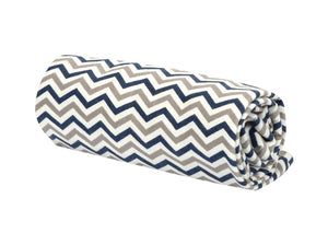 Trend Lab Navy and Gray Chevron Flannel Swaddle Blanket