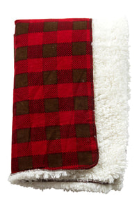 Trend-Lab Northwoods Faux Sherling Receiving Blanket