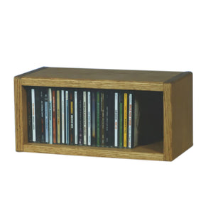 Cdracks Media Furniture Solid Oak Desktop or Shelf CD Cabinet Capacity 26 CD's Honey Finish