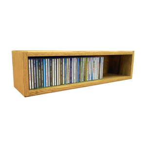 Cdracks Media Furniture Solid Oak Desktop or Shelf CD Cabinet Capacity 62 CD's Honey Finish