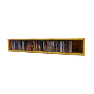 Cdracks Media Furniture Solid Oak Desktop or Shelf CD Cabinet Capacity 94 CD's Honey Finish