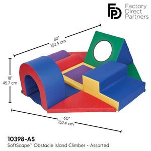 FDP SoftScape Obstacle Island Climber, Oversized Soft Play and Sensory for Toddlers and Children - Assorted