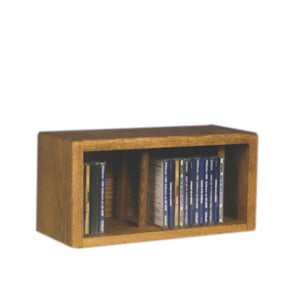 Cdracks Media Furniture Solid Oak Desktop or Shelf CD Cabinet Capacity 28 CD's Honey Finish