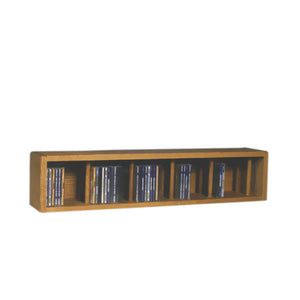 Cdracks Media Furniture Solid Oak Desktop or Shelf CD Cabinet Capacity 67 CD's Honey Finish