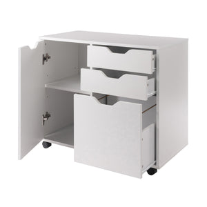 Winsome Wood Contemporary Home Office Halifax 2 Section Mobile Filing Cabinet, White