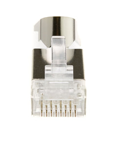 Cable Platinum Tools Shielded Cat6a RJ45 Crimp Connector,includes wire guide