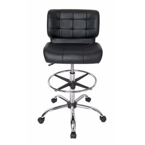 SD STUDIO DESIGNS Modern Black Crest Drafting Chair