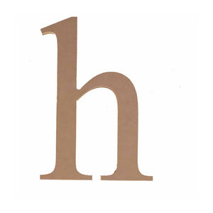 "8"" Unfinished Wood Lower Letter ""h"" Pack 2"