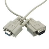 Null Modem Cable, DB9 Male to DB9 Female, UL Rated, 8 Conductor, 25 Foot