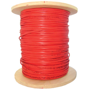 2 Fiber Indoor Distribution Fiber Optic Cable, Multimode, 62.5/125, Orange, Riser Rated, Spool, 1000 Foot