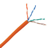 Bulk Cat5e Orange Ethernet Cable, Stranded, UTP (Unshielded Twisted Pair), Pullbox, 1000 foot