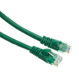 Cat5e Green Ethernet Patch Cable, Snagless/Molded Boot, 20 foot