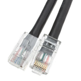 Cat5e Black Ethernet Patch Cable, Bootless, 5 foot