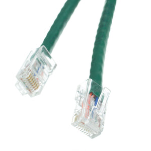 Cable Wholesale Cat 5E Green Ethernet Patch Cable, Bootless, 50 Foot