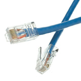 Cat5e Blue Ethernet Patch Cable, Bootless, 7 foot