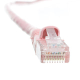 Cat6 Ethernet Cable, 24AWG, RJ45 Gold Plate Connector, ETL, 4 Pair Stranded Copper, Snagless Mold Boot Unshielded Twisted Pair (UTP) Internet Network Patch Cable, 100 Foot, Pink, CableWholesale