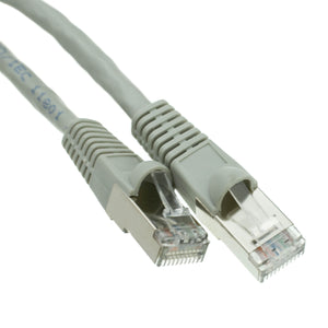Cable Shielded Cat6 Gray Ethernet Patch Cable, Snagless/Molded Boot, 50 foot