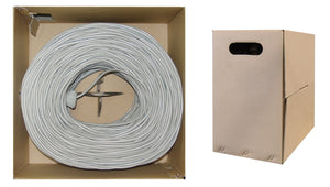 1000 Foot Bulk Shielded Cat6 Gray Ethernet Cable, Solid, Spool, (CMR) Riser Rated, 23AWG Network Cable, 4 Pair Solid Bare Copper, (FTP) Internet Patch Cable, CableWholesale