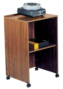 Oklahoma Sound Presentation Multimedia Teaching Desktop Laptop AV Cart Lectern Base Medium Oak
