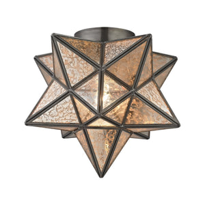 Elk Home 1145-004 Elk Moravian Star 1-Light Flush Mount in Bronze, Multi